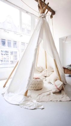 Tipee inspiration: I would have novel/ story time in here...