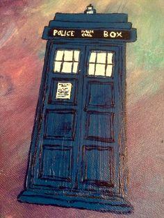Doctor Who  TARDIS Acrylic paint  9/16/16