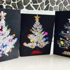 "How to make beautiful Leaf Print Christmas Cards - from stay.life ("",) (How To Make Christmas Cards) Christmas Card Crafts, Homemade Christmas Cards, Preschool Christmas, Christmas Cards To Make, Christmas Activities, Christmas Art, Handmade Christmas, Homemade Cards, Christmas Ideas"