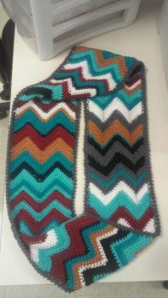 Chevron infinity scarf