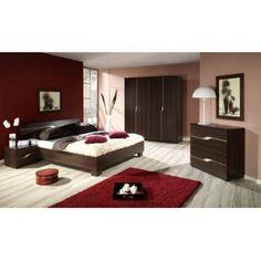 Chambre complète couleur wengé. Plus d'infos sur http://www.on-dstock.com/1231-thickbox_fbr/chambre-austine.jpg
