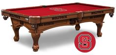 North Carolina State Wolfpack Logo Cloth Pool Table