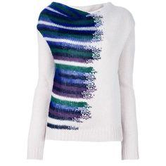 EMPORIO ARMANI printed jumper ($400) ❤ liked on Polyvore