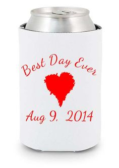 Best Day Ever #wedding #koozie idea  http://www.expressimprint.com/LiveArt?category_id=1&product_id=30