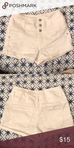5e8724bc5c21 High-waisted white shorts Pair of High-waisted white shorts. -no stains