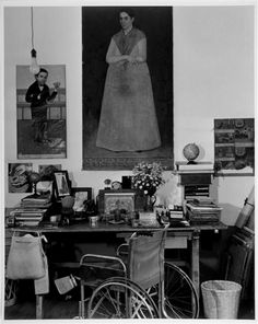 Frida Kahlo's working table, Mexico City, 1951