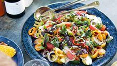 Grilled Avocado and Tomato Salad | Dashrecipes.com