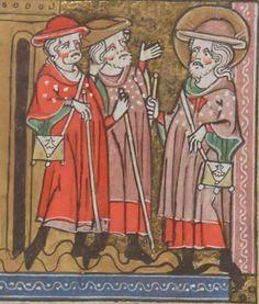 Pilgrims, Bnf, Medieval Art, Le Moulin, All Saints, Date, Pouches, Princess Zelda, Fine Art