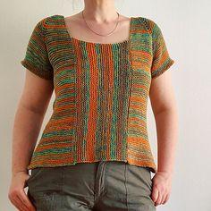 Ravelry: Summertime Garter Stitch Top pattern by Sybil R Summer Knitting, Knitting Yarn, Knitting Patterns Free, Free Knitting, Sport Weight Yarn, Garter Stitch, Top Pattern, Free Pattern, Knit Crochet