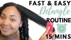 QUICK & EASY DETANGLING ROUTINE IN 15 MINUTES or LESS | Natural Hair [Video]  Read the article here - http://www.blackhairinformation.com/video-gallery/quick-easy-detangling-routine-15-minutes-less-natural-hair-video/
