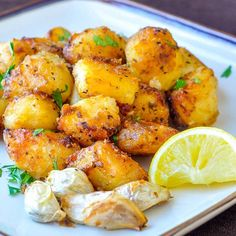 Authentic Greek Lemon Roasted Potatoes | Food Recipes
