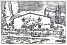 In 2001 we went to Tuscany and Umbria. Our itinerary came out of a book  called Small Hotels and Country Inns of Italy, and every one of the book's  recommendations were great. I was looking at the pics the other day and  thought it might be fun--twlve years later--to compare some sketches I did  then to the nearest photo approximations of the same views I could find on  the web. So here they are:  Hotel di San Leonino in chianti country, 10 miles north of Siena:  Next came San Gimiginiano: