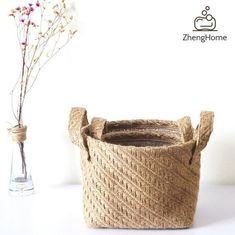 *Feature:-The product is made of linen, gives a natural smell, helps keep a healthy environment.- It is a good pot potter for flowers and decoration for your home,-It can be used for home storage like clothes, blankets, dolls also can have flower pot for home decoration.-You can train kids to pack their toys, store kids toys in it and keep tidy.- Has 2 handles, easy for you to carry around-When not in use, it can be folded back, saving space.-Wipe with a damp cloth for easy cleaning, the Eco-Fri Laundry Basket Organization, Laundry Hamper, Toy Organization, Bathroom Laundry, Laundry Organizer, Organizing, Linen Storage, Decorative Storage, Storage Baskets