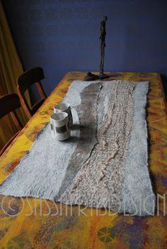 Gefilzte Läufer OOAK Faser Kunst Startseite von sassafrasdesignl