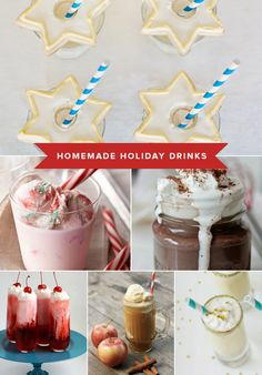 Homemade Holiday Drink Recipes: Peppermint Eggnog Punch... Apple Cider Floats... Junior Mint Hot Chocolate - My, oh my!