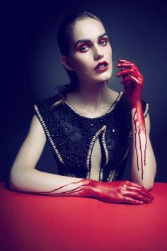 Morbid Couture Captures - The Damage Edyta Jermacz Editorial Features Bloody Accents (GALLERY)