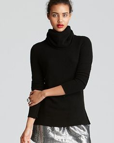 Aqua Cashmere Sweater - High Low Turtleneck | Bloomingdale's