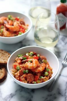 Shrimp & Chorizo Cajun Jambalaya - This meals comes together so easily and makes such an impressive dinner!!!