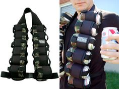 The Hops Holster, A 12-Pack Beer Bandolier.