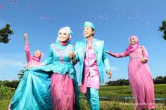 Tosca and pink themed wedding dress at Purworejo, Indonesia