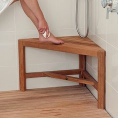 Product Image for ARB Teak & Specialties Fiji Teak Corner Shower Bench 3 out of