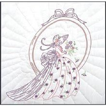 Folk Embroidery Tutorial Fairway Stamped Quilt Blocks Lady In Mirror - Embroidery Designs, Paper Embroidery, Learn Embroidery, Silk Ribbon Embroidery, Crewel Embroidery, Hand Embroidery Patterns, Vintage Embroidery, Embroidery Kits, Quilting Designs