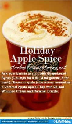Starbucks Secret Menu: Holiday Apple Spice