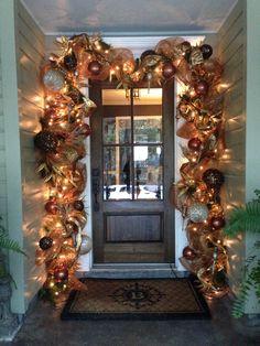 Bronze and gold door decor!