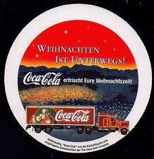 COCA COLA - CHRISTMAS TRUCK  COASTER FROM GERMANY  FE14078