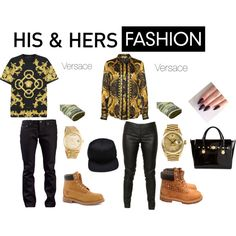 """""""His and her fashion casual"""" by kaosica on Polyvore"""