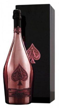 Armand de Brignac Brut Rose Ace of Spades in mooie luxe houten coffret met zwarte pianolak #champagne #AceOfSpades