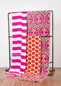 Ikat textiles by Madeline Weinrib Motifs Textiles, Textile Patterns, Textile Design, Color Patterns, Print Patterns, Ikat Fabric, Fabric Wallpaper, Wallpaper Ideas, My New Room