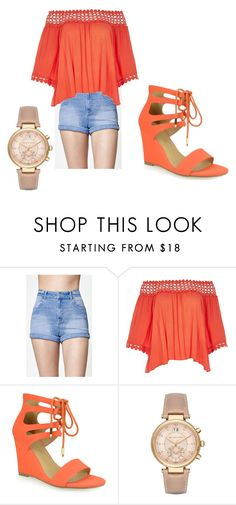"""""""freshman"""" by lashay4240 on Polyvore featuring Kendall + Kylie, River Island, Shoe Republic LA and Michael Kors"""