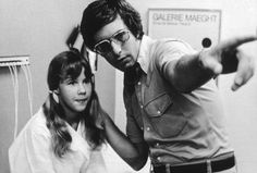 Director William Friedkin giving notes to Linda Blair child star of the 1973 blockbuster horror The Exorcist. Tune into our Exorcist episode when it releases tomorrow to hear why we think this guy is creepy af . Linda Blair, Exorcist Movie, The Exorcist 1973, Lindsey Morgan, Christie Brinkley, Nicolas Cage, Quentin Tarantino, World Movies, Senior Living