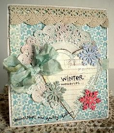 """""""Winter Memories""""...would be cute as a cover for a mini"""