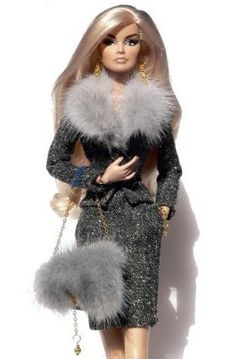 OOAK Outfit handmade for Fashion Royalty Nuface and similar doll Fashion Royalty Dolls, Fashion Dolls, Fashion Outfits, Barbie Style, Doll Clothes Barbie, Barbie Dress, Barbie Mode, Beautiful Barbie Dolls, Black Barbie