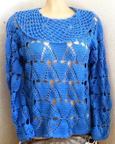 SpazioCrochet: Blusa de crochê outono