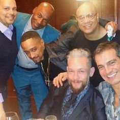 REUNION - All six dancer took a moment to reunite before the showing of the documentary Strike A Pose. Luis Camacho Xtravaganza, Carlton Wilborn, Luis Gutierez Xtravaganza, Oliver S Crumes III, Kevin Stea and Salim Gauwloos.