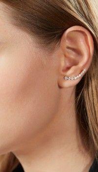 Anita Ko for Tibi Rose Gold Floating Earring-Left