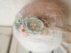 Your place to buy and sell all things handmade Flower Girl Headbands, Newborn Headbands, Newborn Photo Props, Newborn Photos, Newborn Tieback, June Bug, Diy Crown, Pastel Mint, Chiffon Flowers