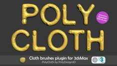 PolyCloth is a physics based cloth brushes plugin for 3ds Max, developed by PolyDesign, that will allow you to easily add wrinkles and folds to your meshes. 3ds Max, Physics, Ads, Scripts, Brushes, Tutorials, Tejidos, Templates, Sculptures