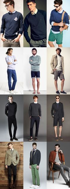 Just in time for Spring. Men's Smart-Casual Sweatshirt Styling - Outfit Inspiration Lookbook via fashionbeans.com