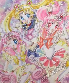 The little one is Kousagi, Chibiusa's manga baby sister in Parallel Sailor Moon