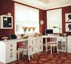 Bedford Desktop Set, 1 Desktop, 1 2-Drawer File & 1 3-Drawer File Cabinet, Antique White