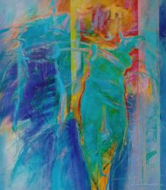 "Saatchi Art Artist Antoni Karwowski; Painting, ""Dancing with Green Angel"" #art"