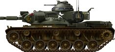 U.S.A. (1975) Medium Tank - 526 built In the middle of the Cold War, there