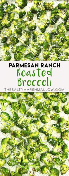 Roasted broccoli with ranch seasoning and parmesan!