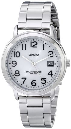 Casio Unisex MTP-S100D-7BVCF Solar Easy-To-Read Stainless Steel Watch * Check…