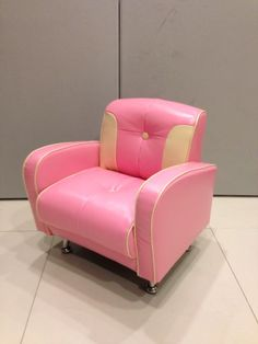 A Pink/Ivory Mini Mustang SIngle Seater. Retro Sweet wor....
