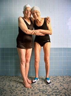 I cannot get over my fascination with women. Look at these girls. Look at these ladies. Look at these women. Jean Shinoda Bolen, Friends Forever, Best Friends, Hugs, Old Folks, Namaste, Young At Heart, Bathing Beauties, Aging Gracefully